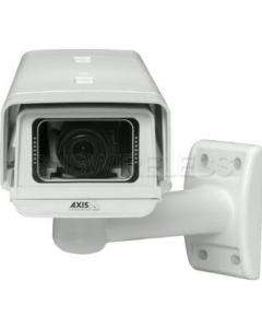 AXIS M1114-E Outdoor Fixed Network Camera, IP66-rated, HDTV, with varifocal 2.8-8 mm DC-iris lens.