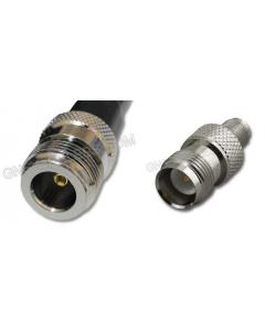N-Female to RP-TNC-Female, 400 Series Coaxial Cable