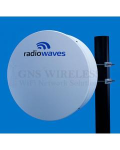 1' (0.3m) High Performance Dish Antenna, Low Profile, 12.7-13.25GHz, WR75 Flange, SOI
