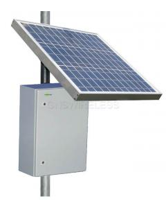 RPST1248-100-60, 15W continuous output w/ 6 hours peak sun, 12V Input, 48V POE Output,  100AH, 60W Solar Panel
