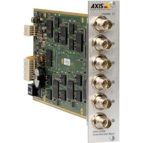 AXIS 84 Channel Video Encoder Bundle, 14 x AXIS Q7406 Blades mounted in an AXIS Q7900 Rack