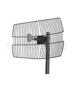 "18dBi 2.4GHz BandPass Filtered Wire Grid Antenna (30"" LMR(R)240 pigtail with N-Female or N-Male connector)"