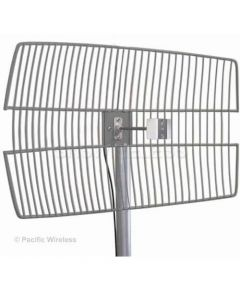 "25dBi 4.9-5.8GHz Wideband Parabolic Grid Antenna (30"" Pigtail, NF Connector)"