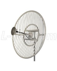 18dBi, 870-960MHz, Grid Antenna, N-Female Connector. Includes pole mount hardware, Die cast aluminum construction,