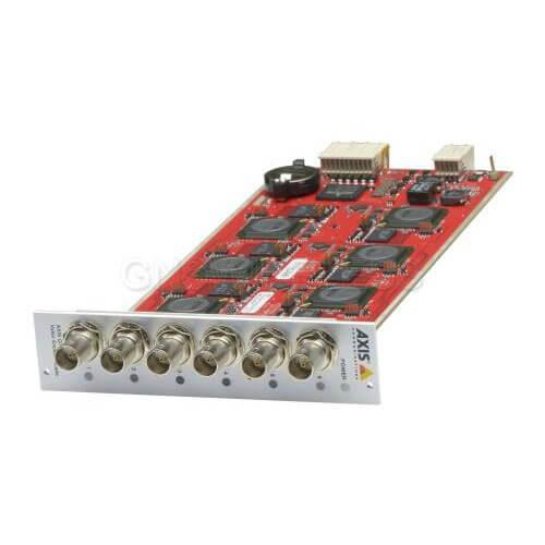 AXIS Q7436 6 channel Video Encoder Blade. Configurable H.264, MJPEG streams; max.
