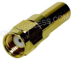 RP-SMA-Male Crimp Connector for Low Loss 195 coaxial cable