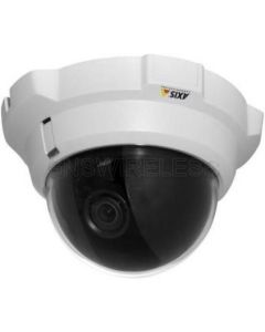 AXIS 216MFD-V Fixed Dome Network Camera with vandal-resistant and compact indoor casing.