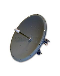 32dBi, 5.7-5.8GHz, Single Polarity Dish Antenna, N-Female, 4° Vertical/Horizontal, Pole Mount hardware included, 3' Diameter, 32 lbs
