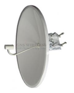 32dBi, 4.9-5.8GHz, Single Polarity Dish Antenna, N-Female, 4° Vertical/Horizontal, Pole Mount hardware included, 3.5' Diameter