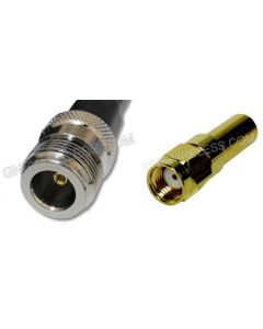 N-Female to RP-SMA-Male, 195 Series Coaxial Cable