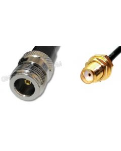 N-Female to SMA-Female, 195 Series Coaxial Cable