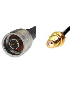 N-Male to SMA-Female, 195 Series Coaxial Cable