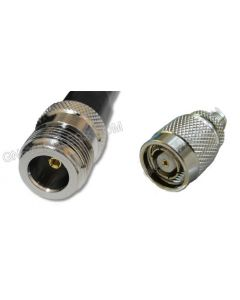 N-Female to RP-TNC-Male, 400 Series Coaxial Cable