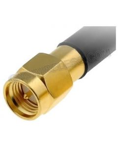 SMA-Male Crimp Connector for Low Loss 195 coaxial cable