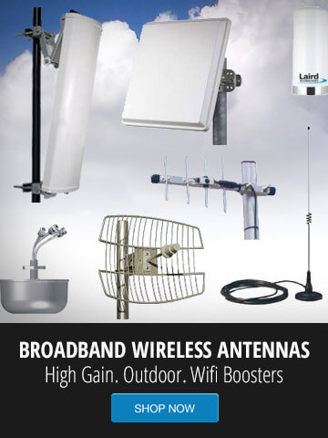 900MHz Non Line Of Sight Point To Wireless Bridge 13dBi Dish Antennas High Power WPA WPA2 Security POE Included