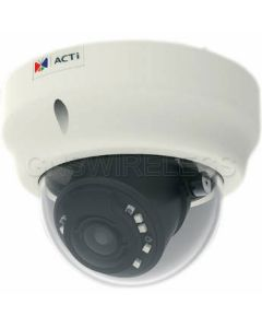 B64, 1.3MP Indoor Zoom Fixed Dome Camera with D/N, IR, Basic WDR, SLLS, 3x Zoom lens