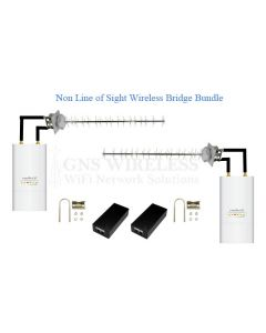 90+Mbps, 900MHz Rugged, Hi Power, Point to Point Wireless Bridge Bundle - Non Line of Sight - 3/4 Mile