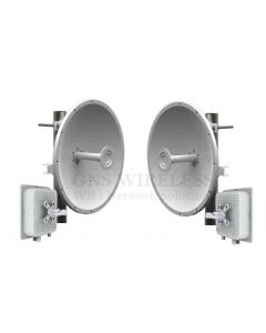 220Mbps, 5.7 - 5.8GHz, High Capacity, Full Duplex, Point to Point Wireless Bridge, 32dBi Dish Antennas, 28dBm TX/RX Power, 128bit encryption, POE/PS included,  1-yr warranty - Pre-Configured - 10 Mile | Complete Link