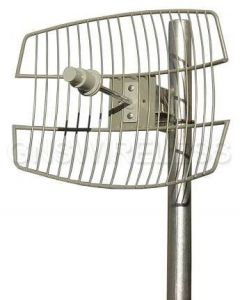 26dBi, Outdoor Grid Antenna, 5.7-5.8GHz, N-Female, 6° Vertical/6° Horizontal, Pole Mount hardware included