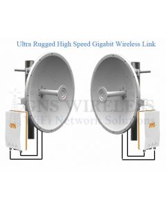 1.5 Gbps, Wireless Point to Point, 32dBi Dish Antennas, WPA2, - 10 Mile, Pre-Configured - Complete PAIR