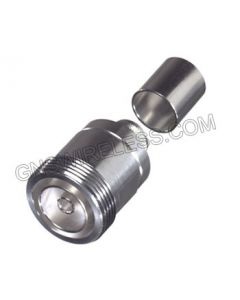 7/16 DIN Female Crimp Connector for 400-Series Cable