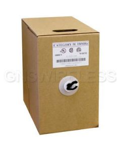 CAT6 550MHz Premium Solid Riser Rated Cable 1000ft. - Black