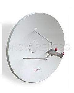 MTI Dual Polarity Parabolic Dish Antenna, 3.3-3.8GHz, Gain: 25.5dBi, 2'. Mounting Kit is included