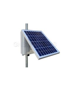 2.5W continuous output w/ 6 hours peak sun, 12V Input, 12V POE Output, 9AH, 10W Solar Panel