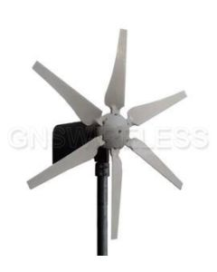 200 Watt 24V, 12 Amp Horizontal Wind Turbine with controller