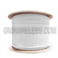 Low Loss Flexible 400 Series Plenum Rated Coax Cable Double Shielded with White PVC (FR) Jacket | 1000ft.